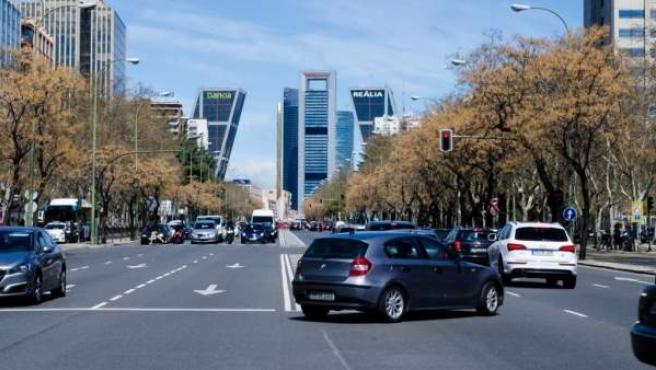 Vista del Paseo de la Castellana de Madrid.