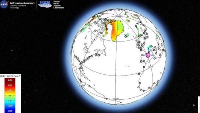 La herramienta puede calcular la sensibilidad exacta, para una ciudad específica, de un nivel del mar a cada masa de hielo en el mundo.