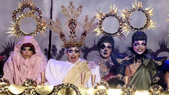 'La última cena', por Drag Sethlas en el Carnaval de Las Palmas.