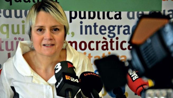La presidenta de la FaPaC, Belén Tascón, en rueda de prensa.
