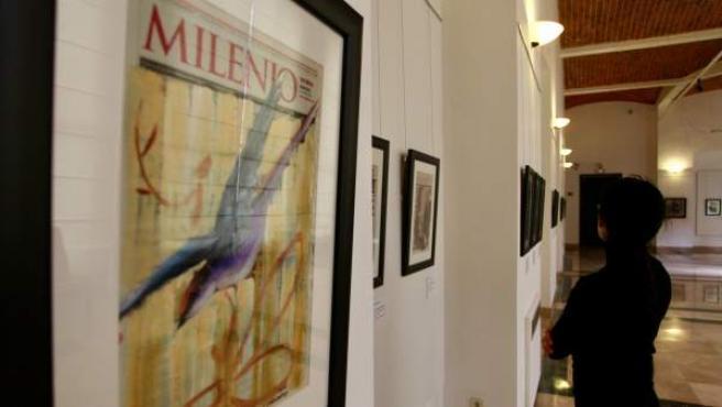 Algunas de las obras de la exposición '100 artistas, 100 portadas de Milenio Diario'