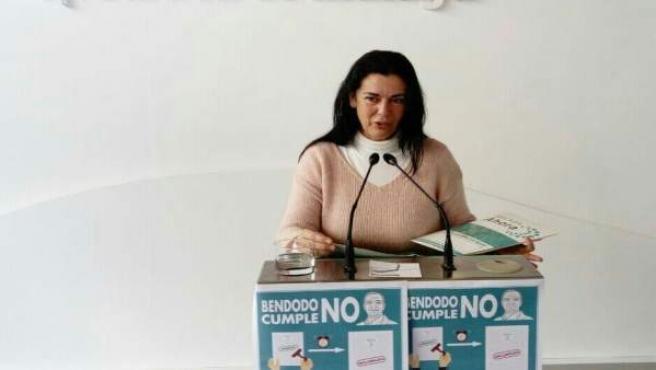 Rosa Galindo portavoz de Málaga Ahora en la Diputación de Málaga edil capital