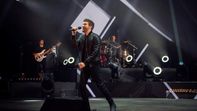 El cantante Pablo Alborán durante una actuación.