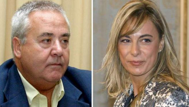 Sonia Castedo (d) y el exalcalde del PP y predecesor en el cargo, Luis Díaz Alperi (i).