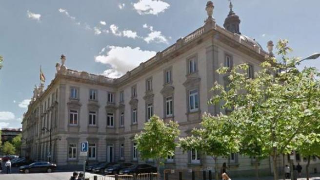 Detalle del edificio del Tribunal Supremo, en Madrid.