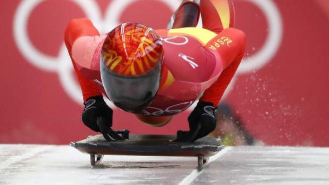 Ander Mirambell, durante su última bajada en los Juegos Olímpicos