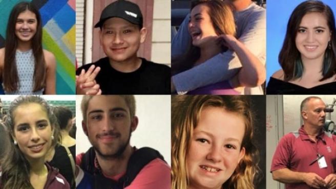 Varias de las víctimas del tiroteo de Florida.