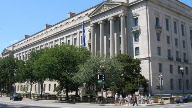 Imagen de la sede del Departamento de Justicia de los Estados Unidos, en Washington DC.