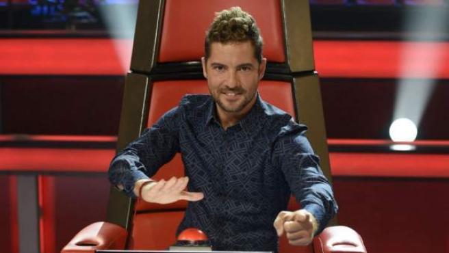 David Bisbal durante la presentación de la tercera edición de 'La Voz Kids'.