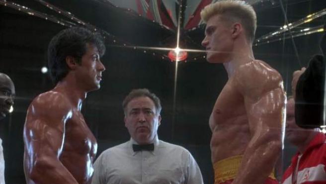 Una imagen de Rocky Balboa e Iván Drago en 'Rocky IV'.