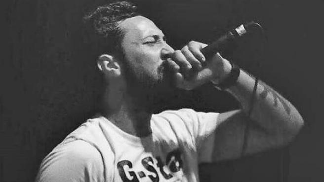 El cantante de rap Valtonyc durante un concierto.