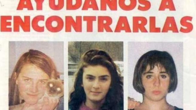 Un cartel que pedía colaboración para encontrar a las niñas de Alcàsser.