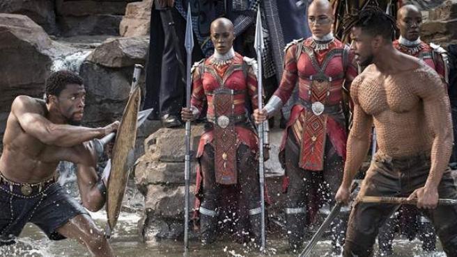 Escena de la película 'Black Panther'.