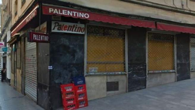 Fachada del bar El Palentino.