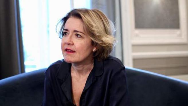 María Pujalte, durante la entrevista