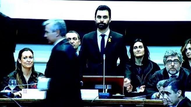 Torrent, el presidente del Parlament.