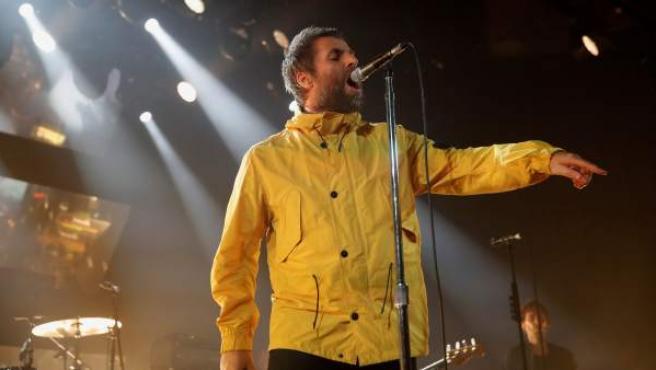El cantante inglés Liam Gallagher, durante el concierto ofrecido el viernes por la noche en Madrid.