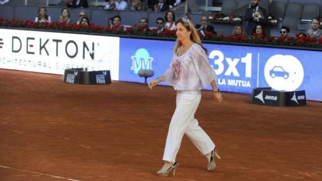 La extenista Arantxa Sánchez Vicario, durante el Masters de Madrid de 2016.