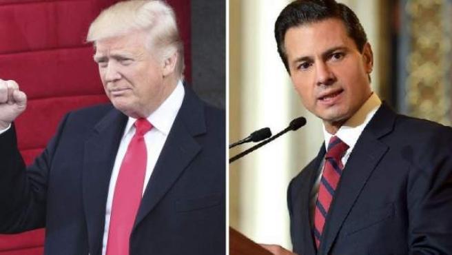 Donald Trump, presidente de Estados Unidos, y Enrique Peña Nieto, presidente de México.