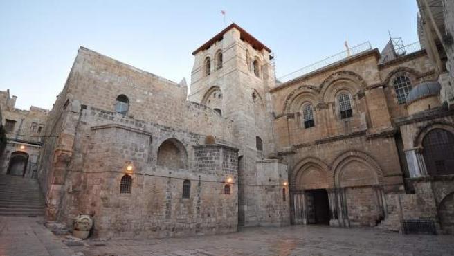 El Santo Sepulcro de Jerusalén, el lugar donde según la tradición fue sepultado Jesús.