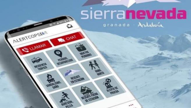 Sierra Nevada dispone de una versión de 'AlertCops' para el rescate de personas
