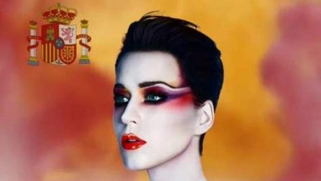 Captura de pantalla del anuncio de la actuación en Barcelona de la cantante Katy Perry.