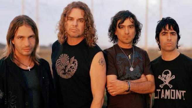 La banda mexicana Maná: Sergio, Fher, Juan y Álex (izda a dcha)
