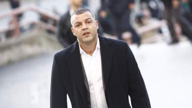 Miguel Ángel Flores a su llegada al juicio por el Madrid Arena.