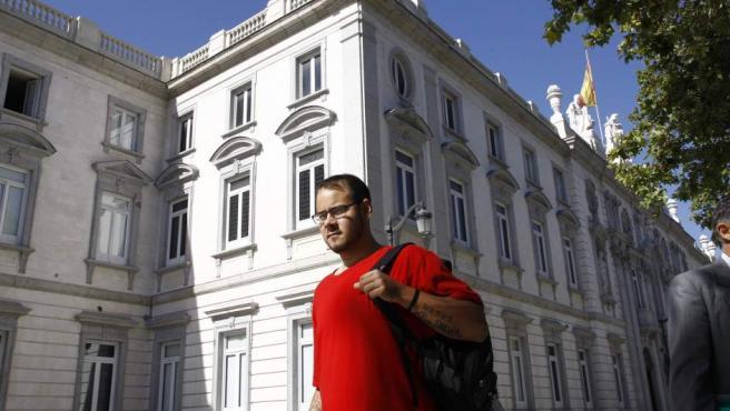 El rapero Pablo Hasel acude a declarar en la Audiencia Nacional.