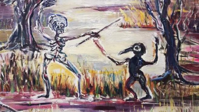 Obra de la artista francesa Mahé Boissel que puede verse en el Museo La Neomudéjar de Madrid.