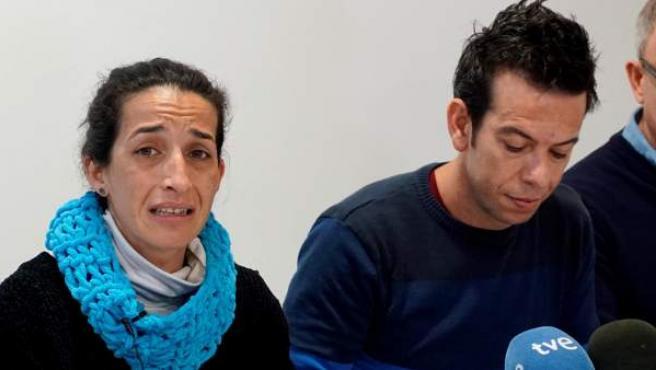 Patricia Ramirez y Ángel Cruz, los padres de Gabriel, el niño desaparecido en el paraje de las Horticuelas en Nijar (Almeria), comparecen ante los medios.