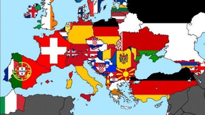 Mapa de votos en Eurovisión.