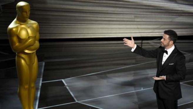 Jimmy Kimmel, en la gala de los Óscar 2018.