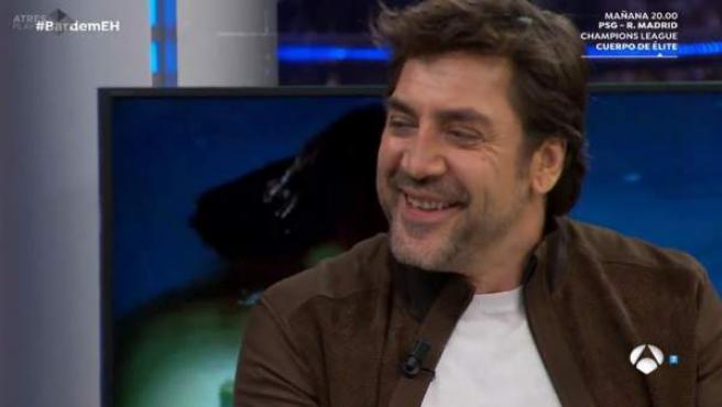 Javier Bardem, en el plató del programa 'El hormiguero'.