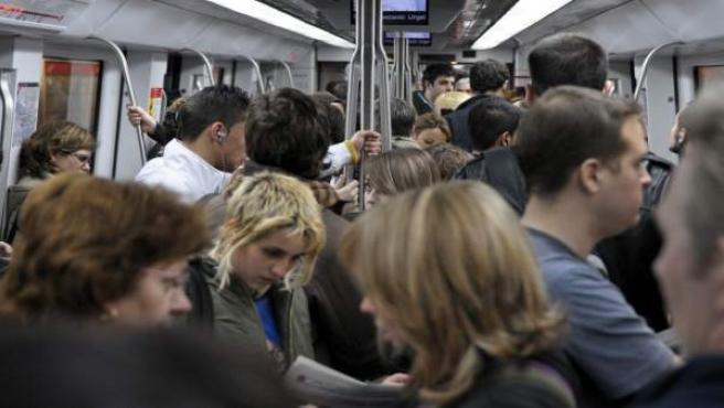 Vagón del Metro de Barcelona