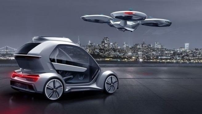 """""""Pop.Up Next es una visión ambiciosa de cómo podría cambiar de forma permanente nuestra vida urbana en el futuro"""", dice el responsable de Suministro de Audi y presidente de Italdesign, Bernd Martens."""