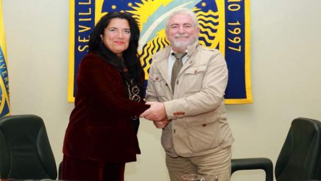Firma de convenio entre la UPO y el Consorcio de Bomberos de Huelva