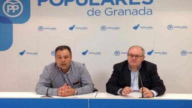 El alcalde de Huétor Vega, Mariano Molina, y el diputado Antonio Ayllón