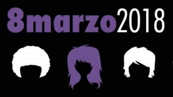 Cartel de la huelga feminista del 8 de marzo de 2018.