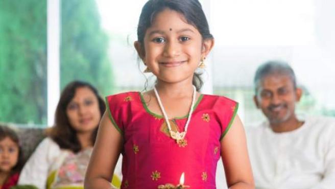Una niña india.