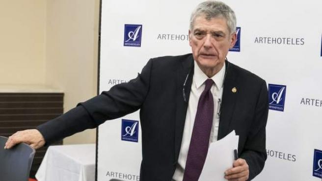 Ángel María Villar, en rueda de prensa.