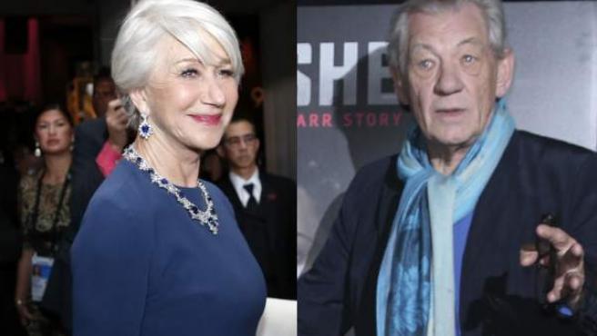 Helen Mirren e Ian McKellen, en imágenes de archivo.
