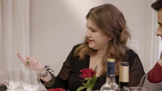 Lucía Etxebarría, en 'Ven a cenar conmigo'.