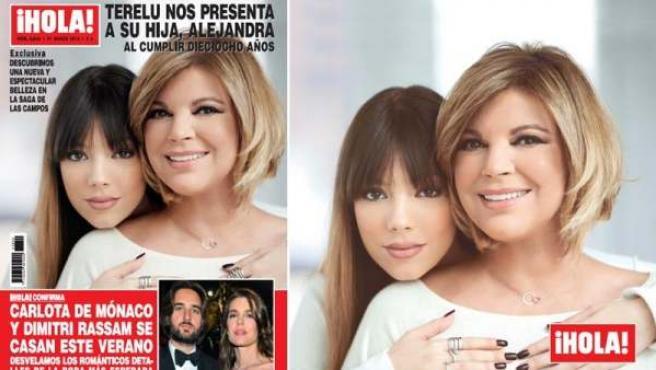 Portada de la revista '¡Hola!', que muestra en exclusiva a Alejandra, la hija de Terelu Campos