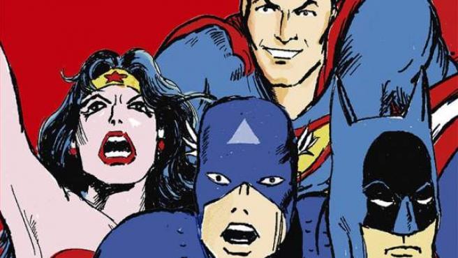 Portada del libro 'Con capa y antifaz: La ideología de los superhéroes'.