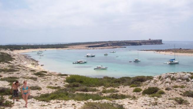 Islote s'Espalmador, situado al norte de Formentera.