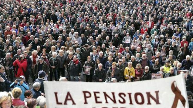 Manifestación de pensionistas.
