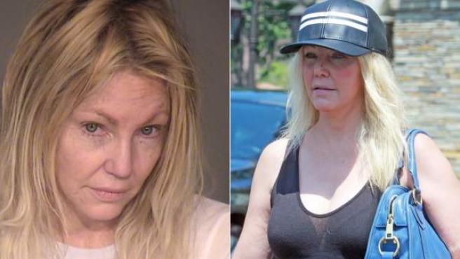 Heather Locklear, en dos imágenes recientes, una tras su última detención (izda).