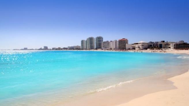 Imagen de una de las playas de Cancún.