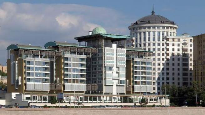 Una imagen de la embajada de Reino Unido en Moscú, Rusia.